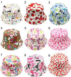 Wholesale Baby Fall Hat - Designer Childrens Honey Flower Bucket Hats For Kids Packable Foldable Fishing Caps Baby Summer Wide Brimmed Beach Sun Visor Cappelli Gift