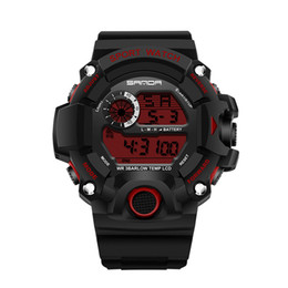 Wholesale Sports Diving Wrist Watch - New Fashion SANDA Brand Men's LED Digital Military Watches 30M Dive Swim Dress Sports Watches Fashion Outdoor Wrist watches