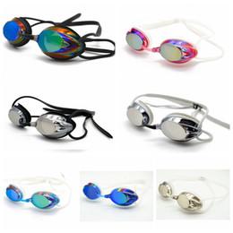 2019 occhiali blu rossi adulti Occhialini da nuoto Anti-Fog Occhialini da nuoto Outdoor Occhiali da nuoto trasparenti Protezione antincendio Occhiali da nuoto impermeabili AAA271
