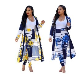 Wholesale first americans - The first explosion models 2018 European and American fashion digital printing cloak leggings casual suit CM202