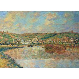 2019 pintura da mão da arte famosa Famosas pinturas a óleo de reprodução de Claude Monet pintados à mão no final da tarde em arte lona de Vetheuil desconto pintura da mão da arte famosa