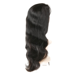 Wholesale Human Hair Wigs Free Shipping - Brazilian Virgin Hair Lace Front Wigs Body Wave Human Hair Wigs with Baby Hair 130% Density For Black Women Natural Color Free Shipping