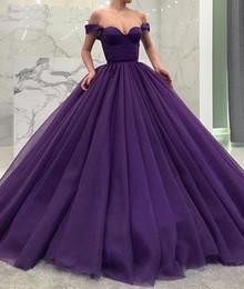 Vestidos De Quinceañera Púrpuras Elegantes Fuera Del Hombro Vestidos De Fiesta Formales Vestido De Fiesta De Cariño Vestidos De Baile Longitud Del