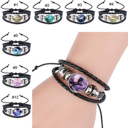 Wholesale Animal Bracelet Bangle - Pegasus Unicorn Bracelet Handmade Leather Multilayer Wrap Bracelet Bangle Cuff Wristbands Fashion Jewelry Gifts Drop Shipping