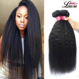 Wholesale Afro Kinky Straight Human Hair - Unprocessed Grade 8A Brazalin Hair Afro Kinky Straight Weave Human hair Extensions Brazialin Virgin Human Hair Kinky Straight 3 Bundles