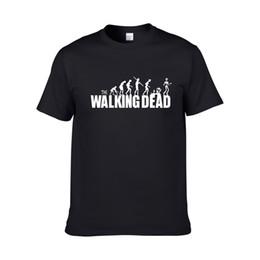 Wholesale Walk O Long - Special Men 100% Cotton The Walking Dead Logo Tee Shirts Men O-Neck Grey Short Sleeve T Shirts Big Size XS-XXL Tee Shirts