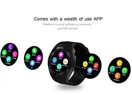 Canada SmartWatch Y1 Support Alarme Carte SIM intelligente, TF Card Valeurs électroniques portables intelligentes pour iOS et Et pk a1 u8 cheap windows alarms Offre