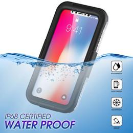Telefone à prova de água à prova de choque on-line-Para iphone xr xs max x 6 6 s 7 8 além de casos de cobertura de telefone celular à prova d 'água à prova de choque 2 em 1 híbrido à prova d' água neve protetora case