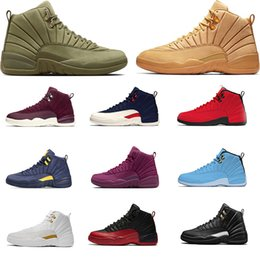 2019 scarpe da uomo nyc Nuove scarpe da basket 12 Bulls NYC College navy Michigan UNC per scarpe da uomo 12s scarpe da ginnastica sneakers sportive taglia 7-13 sconti scarpe da uomo nyc