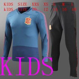 Wholesale Spain National Team - AAA+ quality 17 18 kids Spain Training suit 17 18 Spain aorld cup national team Ramos Isco Silva Fabregas CHANDAL TRACKSUIT football suit