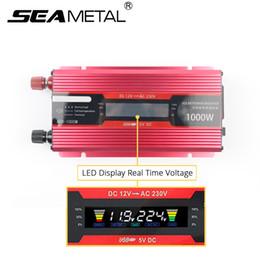2019 power inverter geführt 12 220 2000 Auto-Inverter 12v 220v 2000 1000W Energie USB-LED-Inverter DC12 Um AC220 Spannungswandler Auto-Ladegerät Solar-Anzeige günstig power inverter geführt