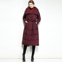 Wholesale Women Long Winter Puffer Jacket - Women Winter Jacket Down Light Ultra Thin Cloak Coat Womens Puffer Cape Duck Woman Long Brands 2017 Designers Coats and Jackets