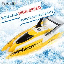 coche rojo de la deriva del rc Rebajas Peradix Racing Boat Rc Barco Plástico 4CH Piscinas Lakes Water Water High Speed