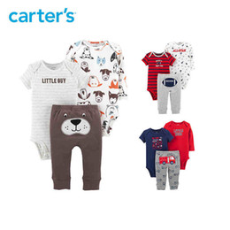 7673fa4f488b5 3-Piece Little Character Set Cute bodysuits long pant baby girl autumn  winter clothes newborn baby boy clothing 126H494