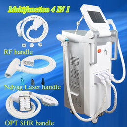 Wholesale Face Lifting Equipment - Professional Multifunction OPT SHR Elight Laser Hair Removal Q Switch Nd Yag Laser Tattoo Removal RF Skin Rejuvenation beauty equipment