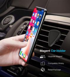 dreieck telefonständer Rabatt Handy magnetische Autotelefonhalterung starke Adsoprtion Dreieck Design Air Vent Mount Magnethalterung für iPhone X im Auto stehen