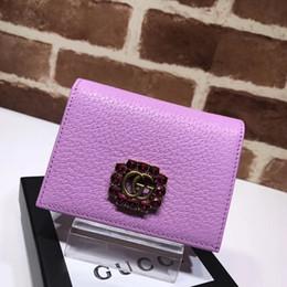 De alta calidad de lujo diseño de la celebridad carta de diamante de metal hebilla billetera de cuero de cuero de vaca mujer 499783 monedero embrague desde fabricantes