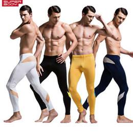 2019 pantalons legging hommes serrés Sous-vêtements thermiques Bas Mode Hommes Chaud Longs Johns Tight Legging Pantalons Pantalon Render Caleçon Homme Fine Velours Hiver pantalons legging hommes serrés pas cher
