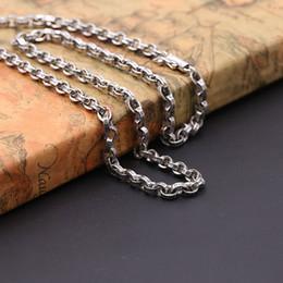 2019 18-дюймовая платиновая цепь Персонализированные стерлингового серебра 925 пробы винтажном стиле американский европейский антикварное серебро ручной работы дизайнер толстые ожерелья для мужчин