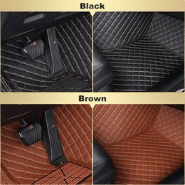 Wholesale honda carpet mats - Custom-Fit All Weather Leather Car Floor Mats for Honda Civic (9th generation,2011-16) Waterproof 3D Anti-slip Carpets 4 Colors Free Shippi