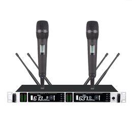 Bolymic Professional Çift Kanallı açık sahne performansı UHF kablosuz mikrofonlar nereden gizli güvenlik kameraları sesi tedarikçiler