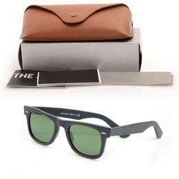 2019 lunettes de vue noir mat nouveau Lunettes de soleil noir mat pour hommes Lunettes de soleil en verre Lunettes de soleil Lens Plank Haute qualité pour femmes Lunettes de protection UV Lunettes 50/54 promotion lunettes de vue noir mat