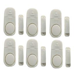 Wholesale Wireless Door Entry - 6 x Mini Security alarm Systems Wireless Home House Window Door Entry Burglar Security Alarm System Magnetic Sensor