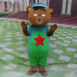 2019 traje de urso tamanho completo Tamanho adulto Bonito Urso Mascot Costume Halloween Natal Dos Desenhos Animados Urso Carnaval Vestido de Corpo Inteiro Adereços Outfit traje de urso tamanho completo barato