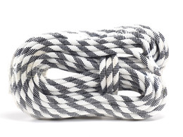 Wholesale canyoneering ropes - Factory Direct Selling Safety Rope Diameter 10mm Length 20m Polyester Fiber Black & white for Climbing Outdoor Gear & Accessories