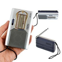 nouvelle radio vw Promotion BC-R22 Portable AM FM Récepteur Radio Construit en Haut-Parleur avec Écouteurs Standard Jack Mini Radio sans shippping