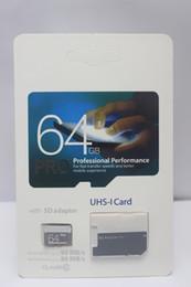 Wholesale I Pro - 2018 new Top Selling 128GB 64GB EVO PRO SD 80MB s UHS-I Class10 Mobile Memory Card 100pcs lot DHL