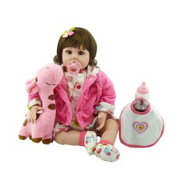 "Wholesale Baby Reborn Girl - 20"" New Silicone vinyl adora Lifelike toddler Baby Bonecas girl kid doll bebe reborn menina de silicone toys for children"