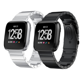 алюминиевый Скидка Серебряный браслет ремешок для часов Fitbit Versa band 2018 из нержавеющей стали металлический браслет ремешок для часов наручные пояса смарт аксессуары