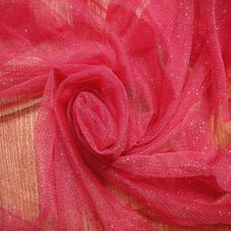 Wholesale Mesh Fabrics For Sewing - Fabric hexagonal mesh shiny powders for Handmade Sewing Material DIY craft skirt dress party wedding birthday decroation