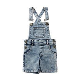 ea3314890cbd Fashion Toddler Kids Baby Boys Girls Denim Bib Pants Overalls Jean Outfits  Sleeveless Denim Shorts Jumpsuit Outfits Summer