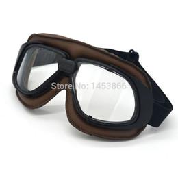 2017 Óculos de Proteção Da Motocicleta Do Vintage Óculos de Ciclismo Da Motocicleta  Piloto Moto Óculos de proteção Retro Jet Capacete Eyewear motocicletas a ... 8ea0fb245f
