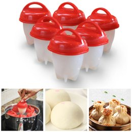 Wholesale Poached Eggs - Silicone Egg Poachers Egglettes Egg Cooker Hard Boiled Without The Shell For Cookware Poached Baking Kitchen Tools