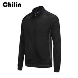 Wholesale Hood Zip - Men's Long Sleeve Running Jacket Sports Clothing Outdoor Sportswear Black Zipper Jacket Traning Zip Up Hoodie Without Hood G008