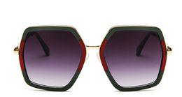 Wholesale polygon mirror - New polygon sunglasses big frame sunglasses small bees colorful mercury glasses
