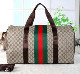 Wholesale Handbag Sports - Hot FASHION Luxury brand men women travel bag PU Leather duffle bag brand designer luggage handbags large capacity sports bag