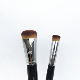 Wholesale Wood Presses - PRO Press Full Coverage Complexion Brush #66   Precision Brush #67 - Perfect Foundation Concealer Cream Brush- Beauty Makeup Brushes Blender