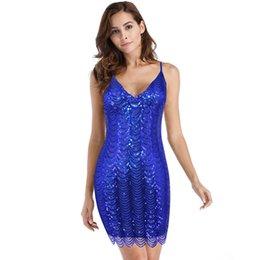 Женская мода блесток платье V-образным вырезом Bodycon Sexy коктейльное платье сияющий роскошные Рождество Новый год платье размер S M L XL от