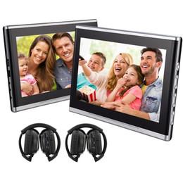 """Autoaufladeeinheit dvd online-EinCar Paar 10,1 """"Auto Kopfstütze Auto DVD Player Kopfstütze Monitor HDMI-Anschluss und Fernbedienung und Zigarettenanzünder Ladegerät und IR-Kopfhörer"""
