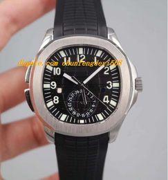 Regarder les hommes à deux fuseaux horaires en Ligne-Luxe 5164A-001 Aquan @ ut Voyage Temps Dual Time Zone Inoxydable / Caoutchouc Bracelet Automatique Mode Marque Montre Homme Montre-Bracelet