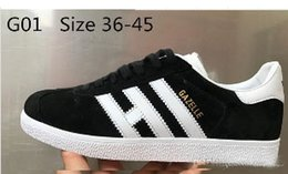Wholesale Pink Lace Border - Wholesale New High Quality GAZELLE OG Casual Shoes Women White Black Red Pink Flat Casual Shoes Sneakers