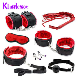 2020 giocattoli feticisti a mano Clamps 7 Pcs Whip Woman Adult Bondage Couples Slave Restraint Sex Sex Toys Hands Nipple Toys Fetish Khalesex Set Erotic For Y18102405 Ggbxm sconti giocattoli feticisti a mano