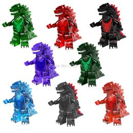 Wholesale Movies Kit - Single Sale Godzilla Figure Movie Predator Building Blocks Set Model Kits Bricks Toy for Children PG1147