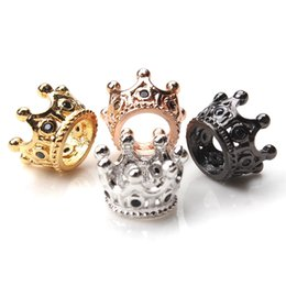 Wholesale imperial metals - 1pc 11*6mm Vintage Copper Charms Imperial crown Pendant Gold-color Fit Bracelets Necklace DIY Metal Jewelry Making