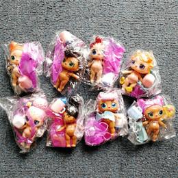 8 pçs / lote LOL BONECA DIY desgaste roupas Garrafa Menina lol Boneca Mudança Do Bebê com Óculos Figura de Ação Brinquedos Infantis Presente LOL brinquedos para meninas de