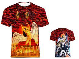 Wholesale led zeppelin shirt xl - Led Zeppelin 3D Printed Fashion Women men's T-shirts